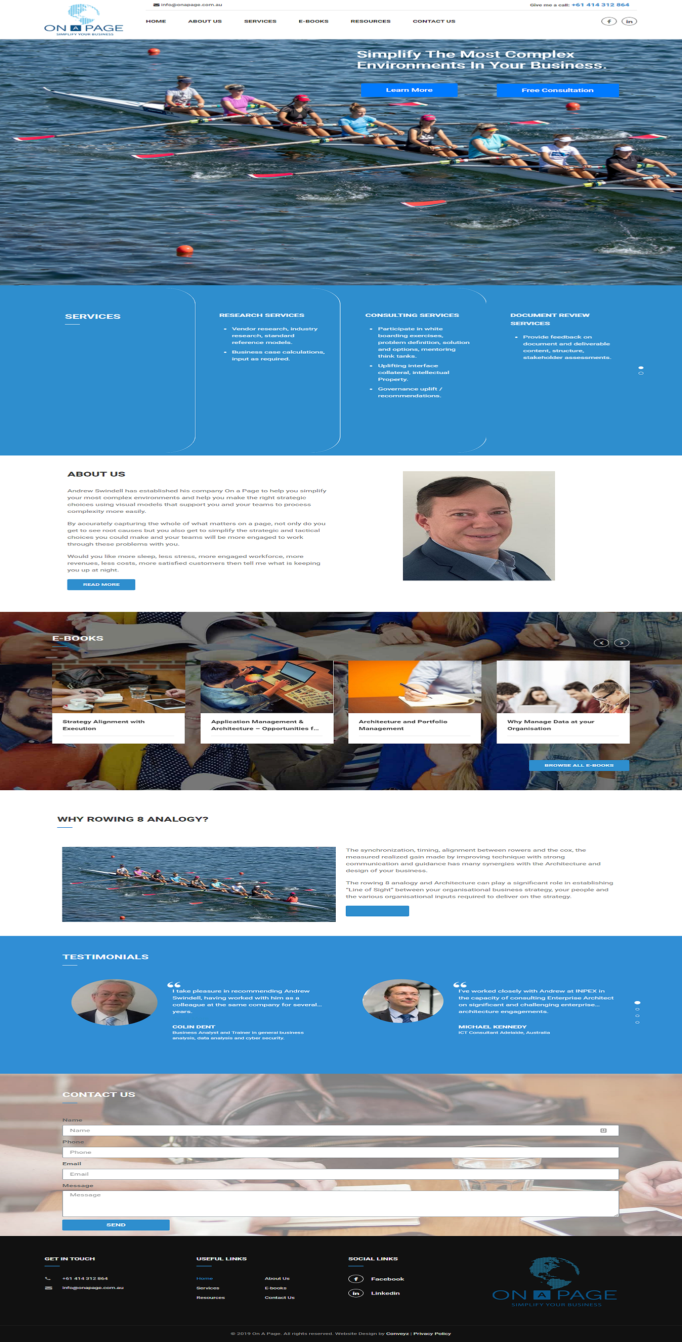 Website Design for On A Page
