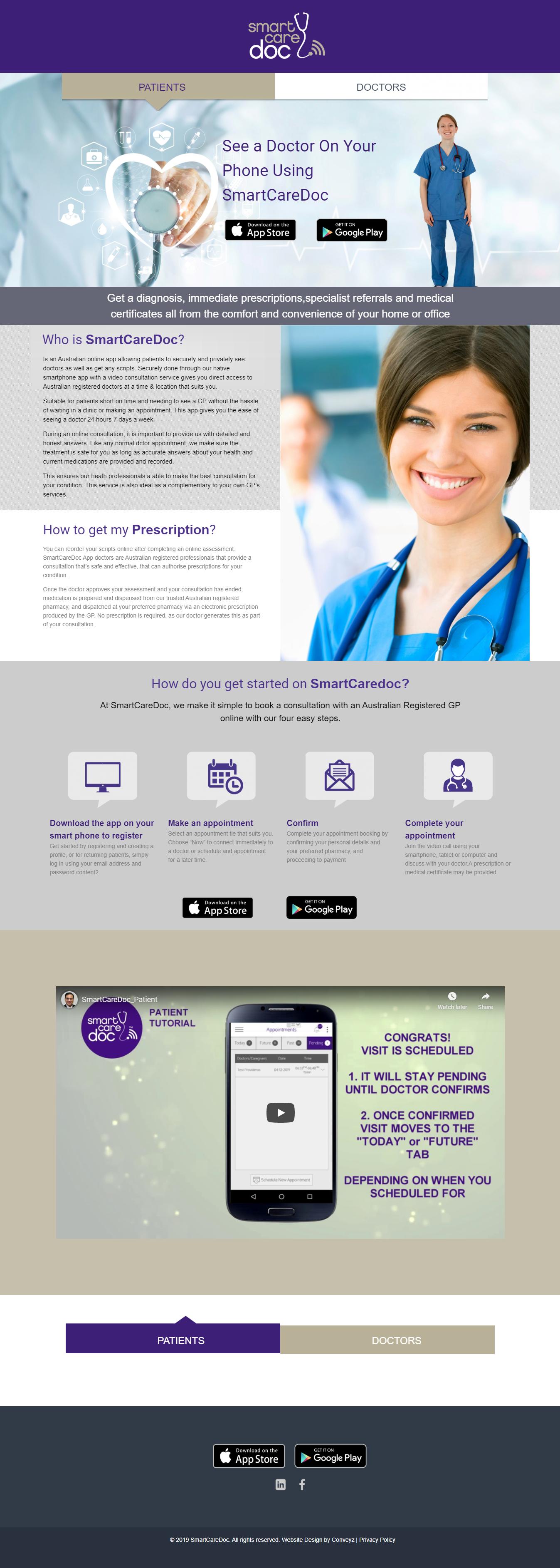Website Design for Smart Care Doctors
