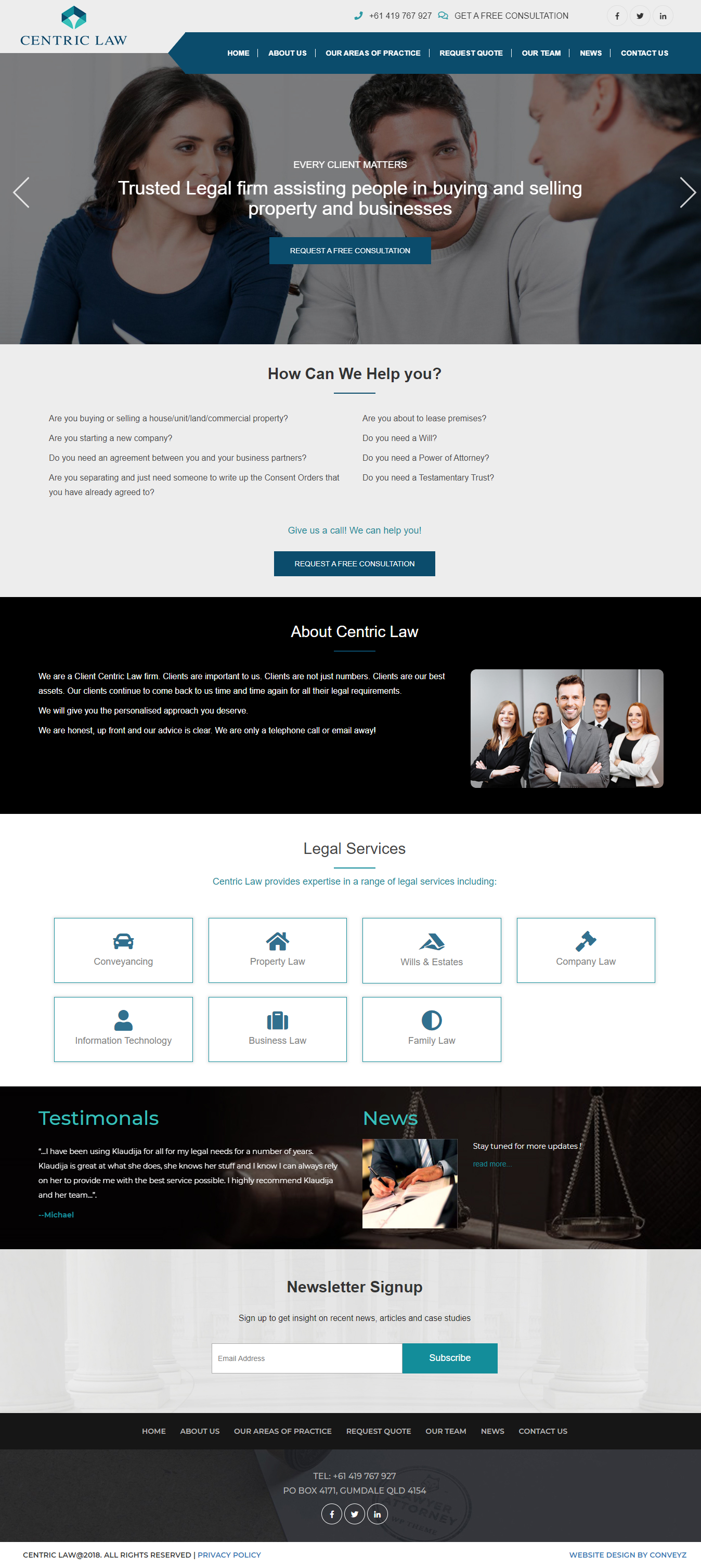 Website Design for Centric Law